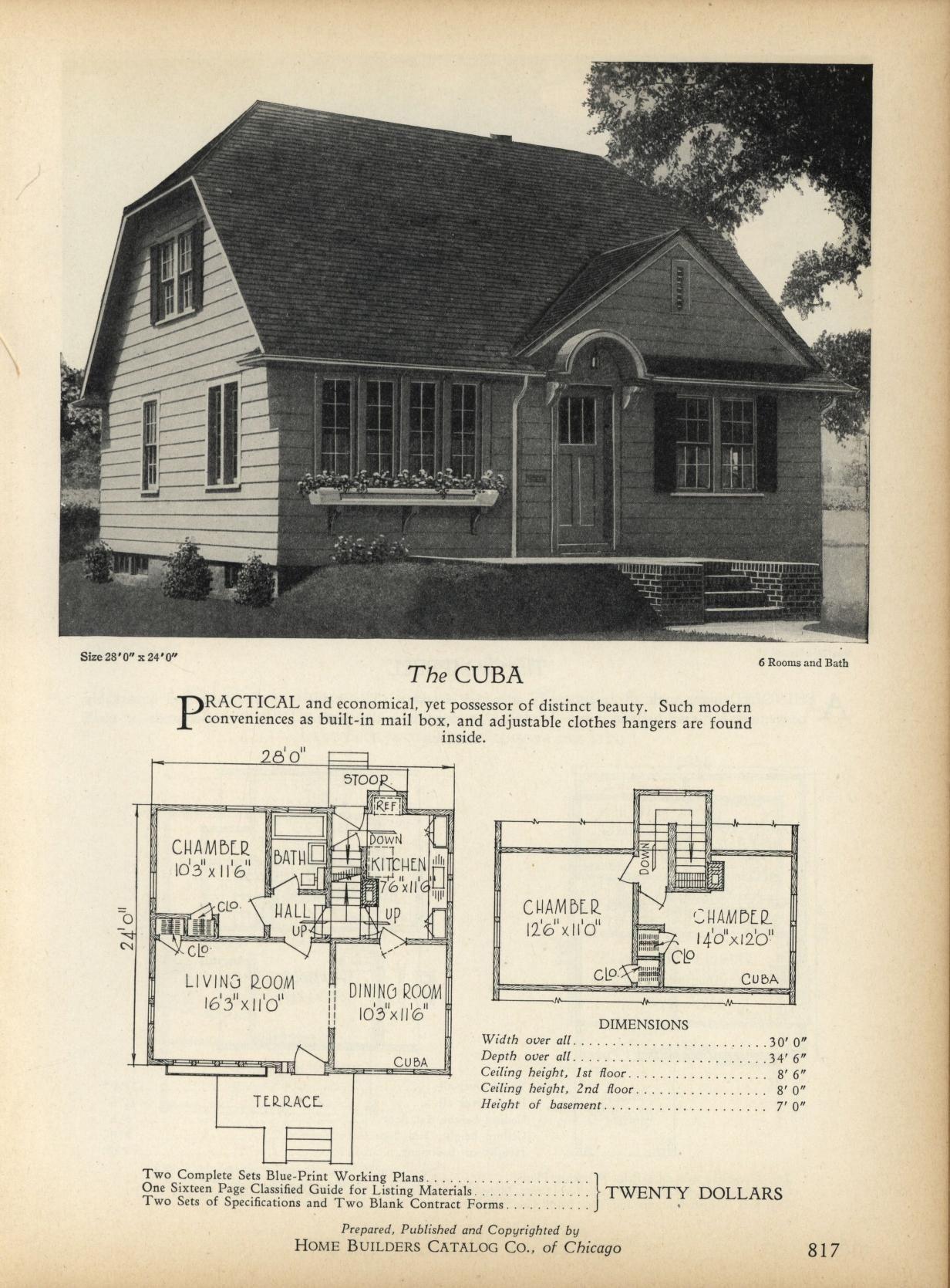 The CUBA Home Builders Catalog plans