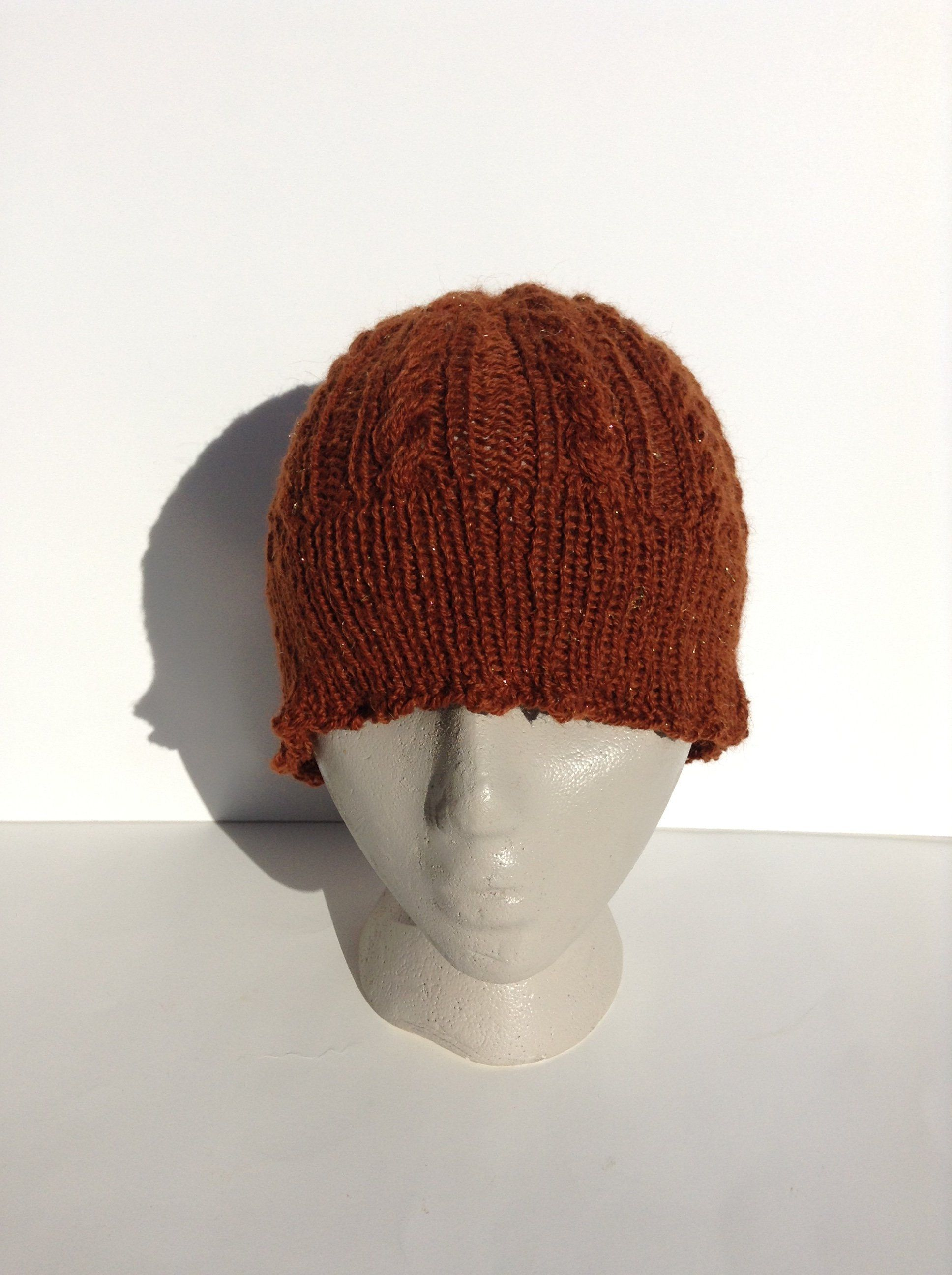 04b44e5bb0f64f Brown Sparkly Adult Beanie - Baby Alpaca and Polyester by Archaeopterknits  on Etsy