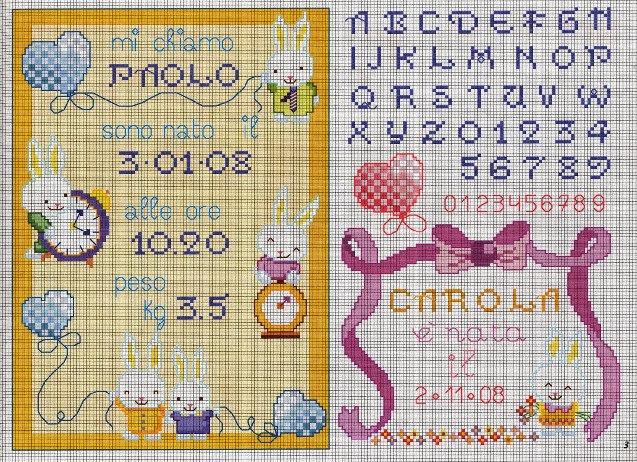 Schemi per il punto croce motivi per bambini a punto for Bambini punto croce schemi