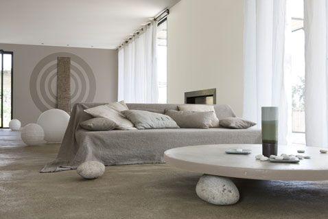 Couleurs salon harmonie gris et blanc peinture gamme Falaise V33 ...