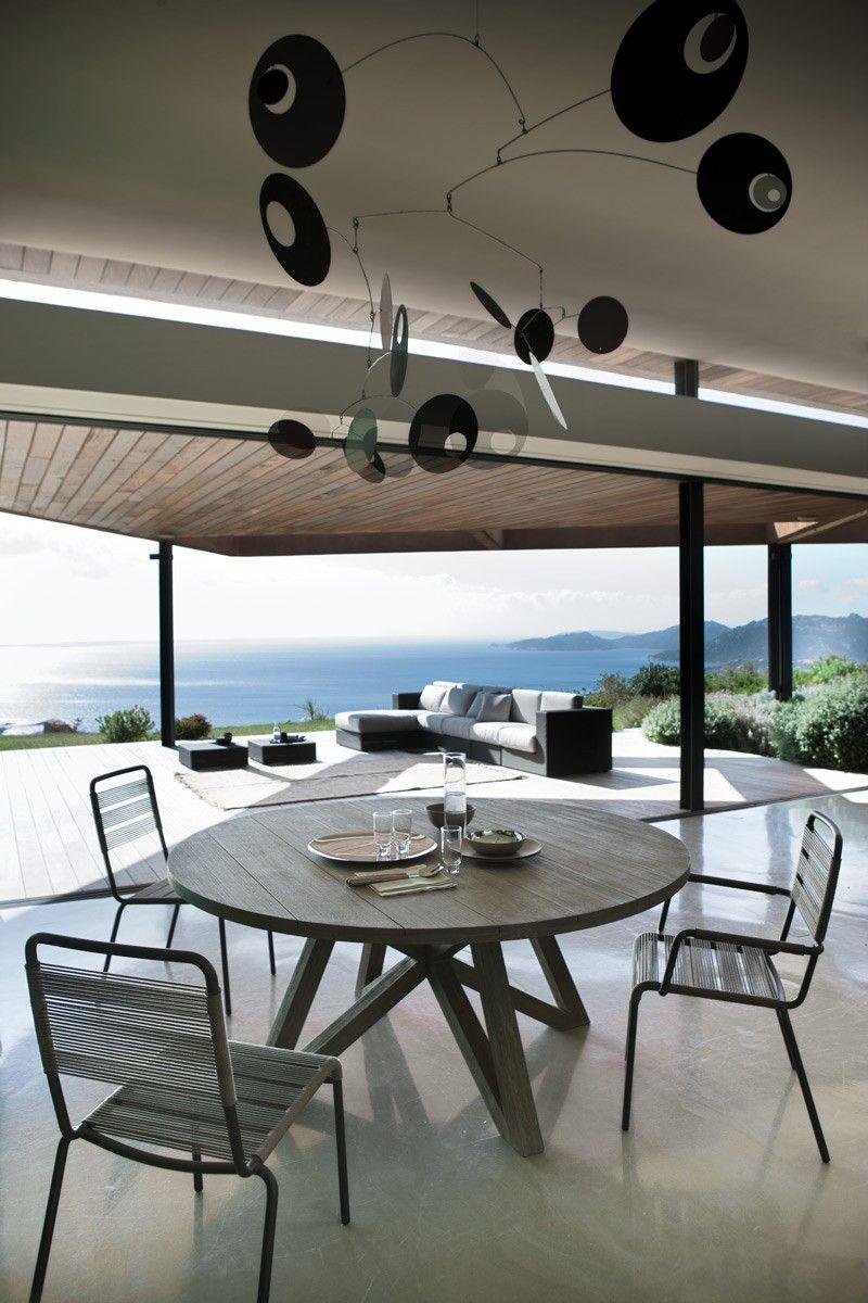 Table ronde de jardin Croisette en Teck - Unopiù | projet togo ...
