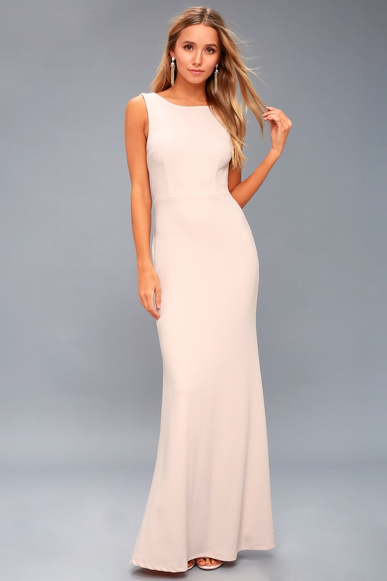 81899a26300 Into the Night Blush Pink Backless Maxi Dress 2