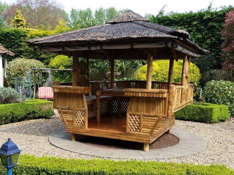 Diseño exteriores de bambú Ideal para el verano Estilo Diseño - diseo de exteriores