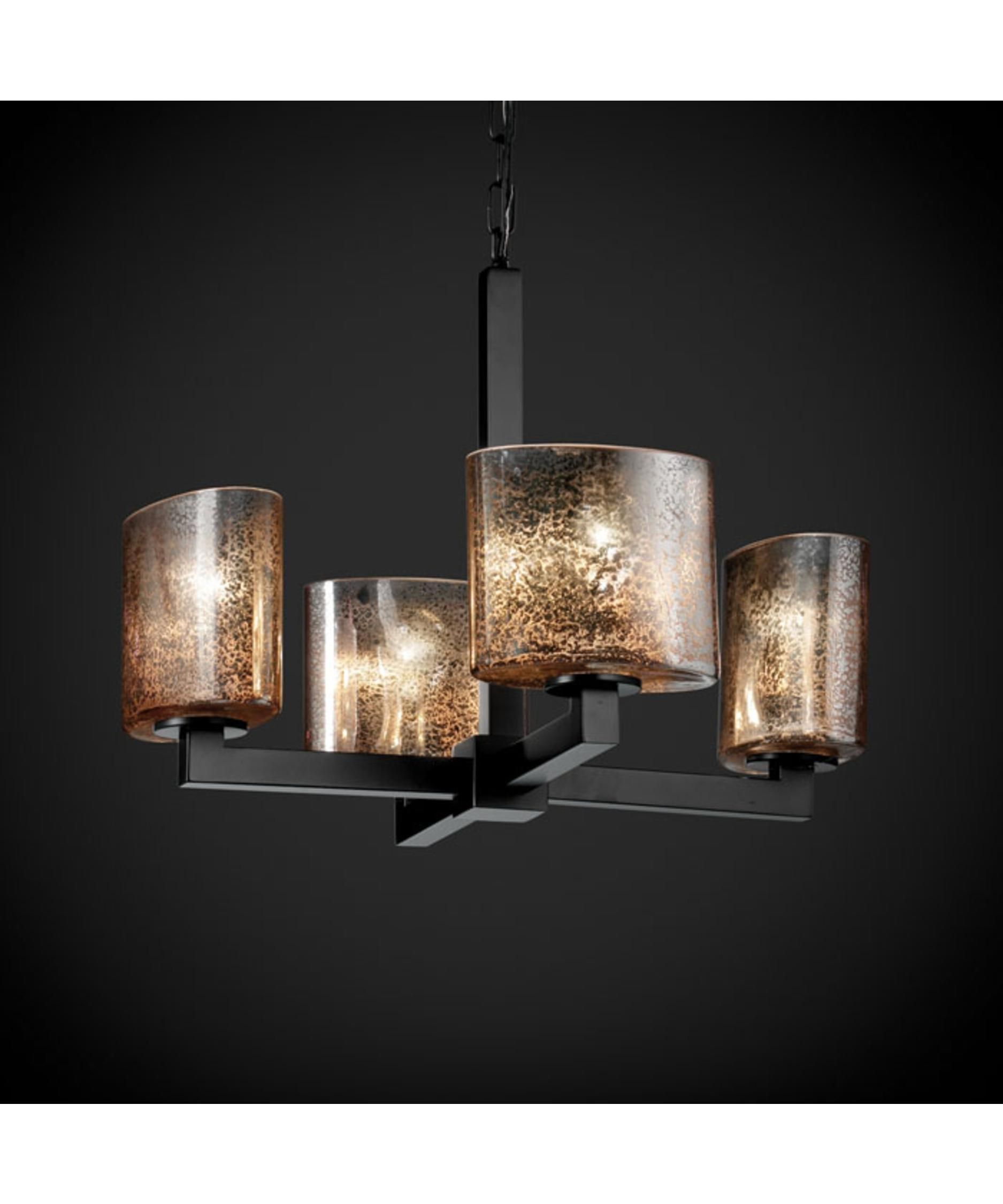 Fusion 20 Inch 4 Light Mini Chandelier by Justice Design