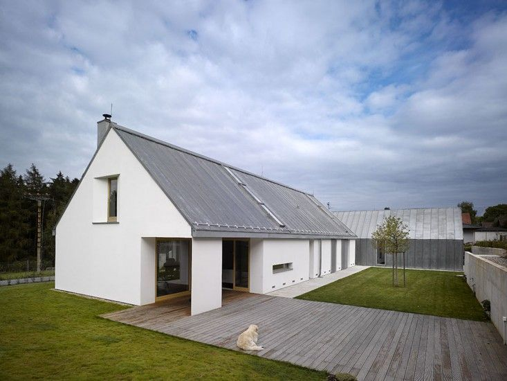 Family House Klokocna Prague Studio Pha White Barn Wood Deck