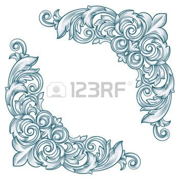 filigree corners decorative vintage border corner frame