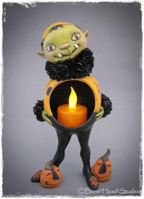 Halloween gourd art  , Griffin the goblin -