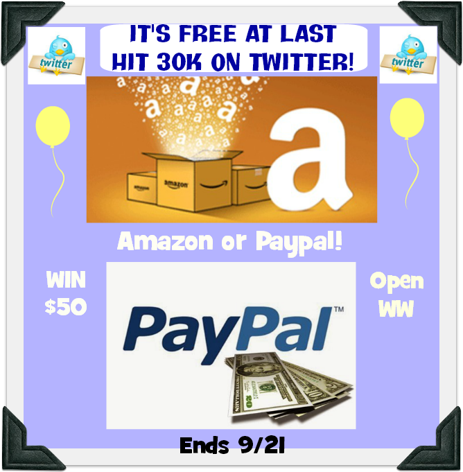Win A $50 Paypal Or Amazon E-Gift Card