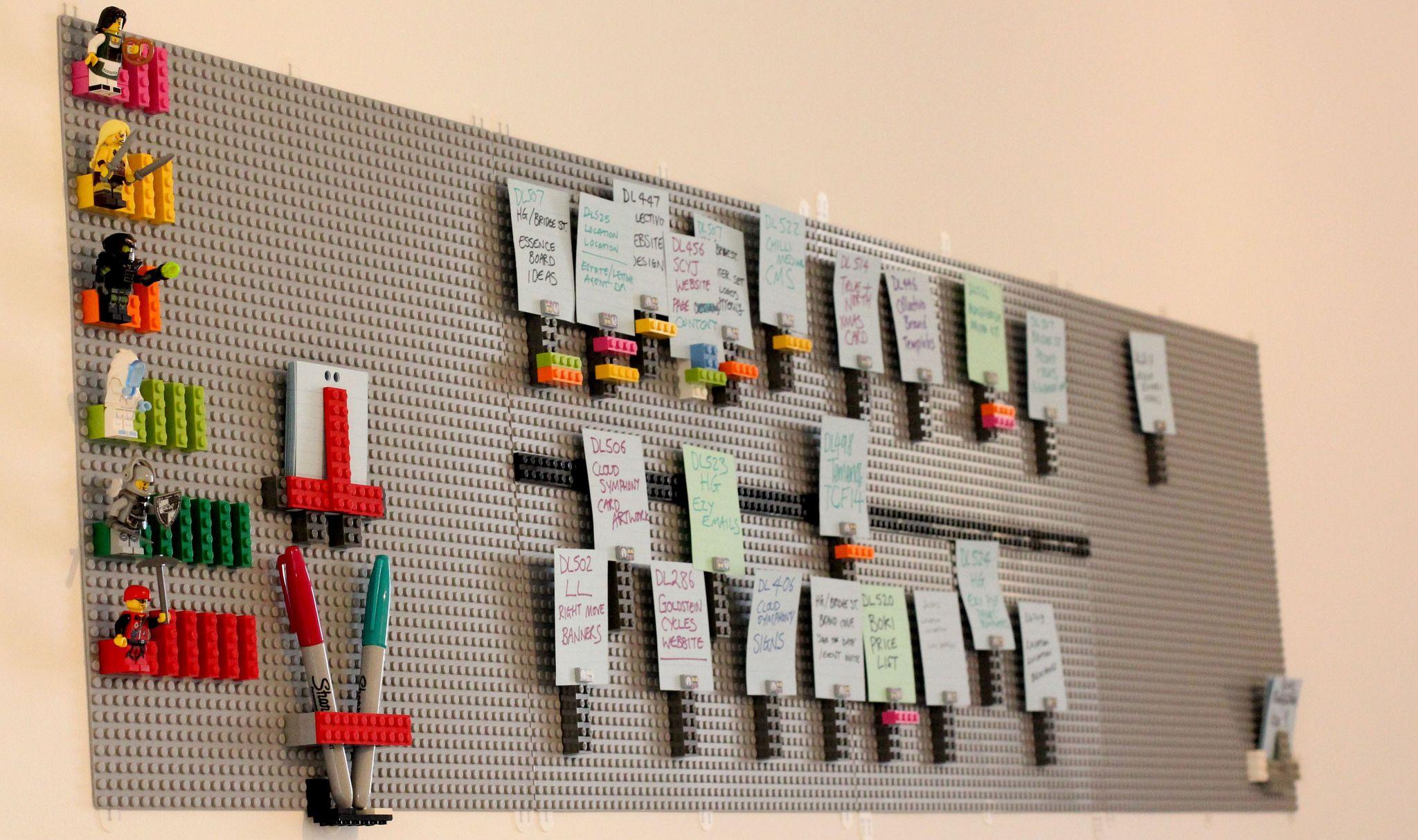 An Inspiring Lego Made Kanban Board Kanban Project