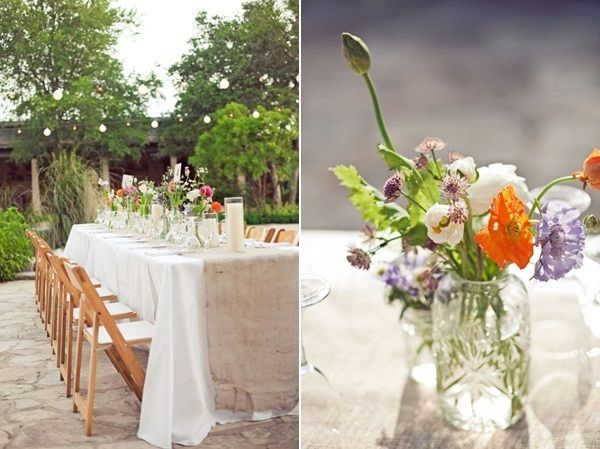 a cheerful summer wedding with country flowers