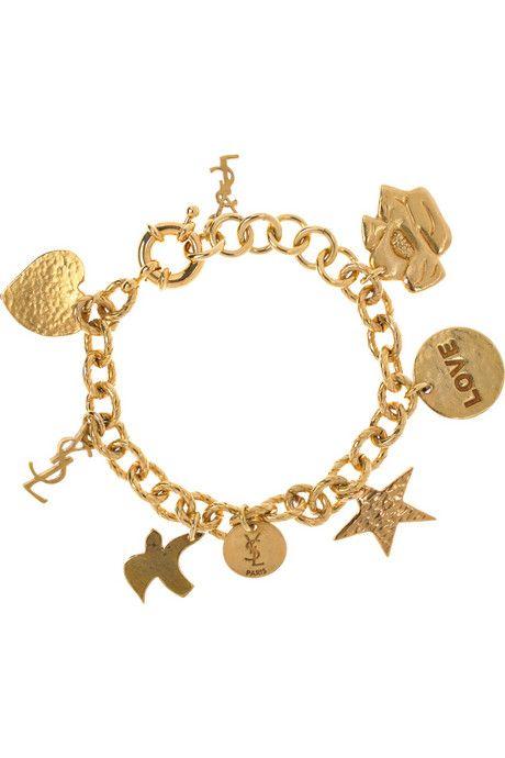 4cb39d93bef Simple. (Yves Saint Laurent Ycons Gold-plated Charm Bracelet ...