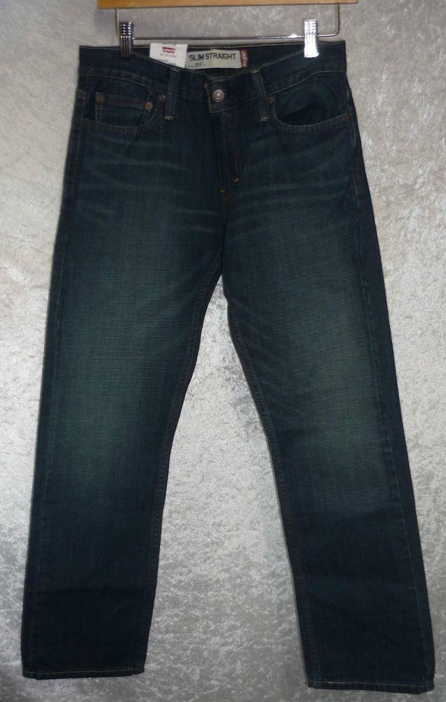 22712ee7e3e Levi's 514 Jeans Slim fit Straight leg 100% Cotton 5-pocket men's size 30x30