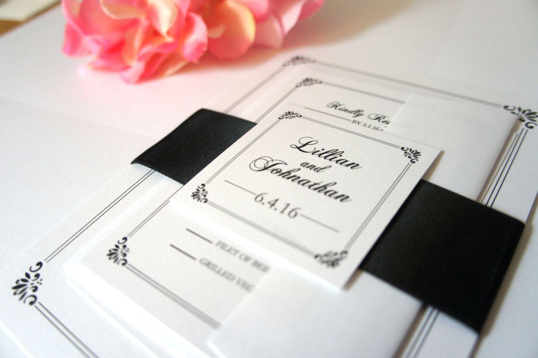 Classy Wedding Invitation, Classic Wedding Invitations, Elegant ...