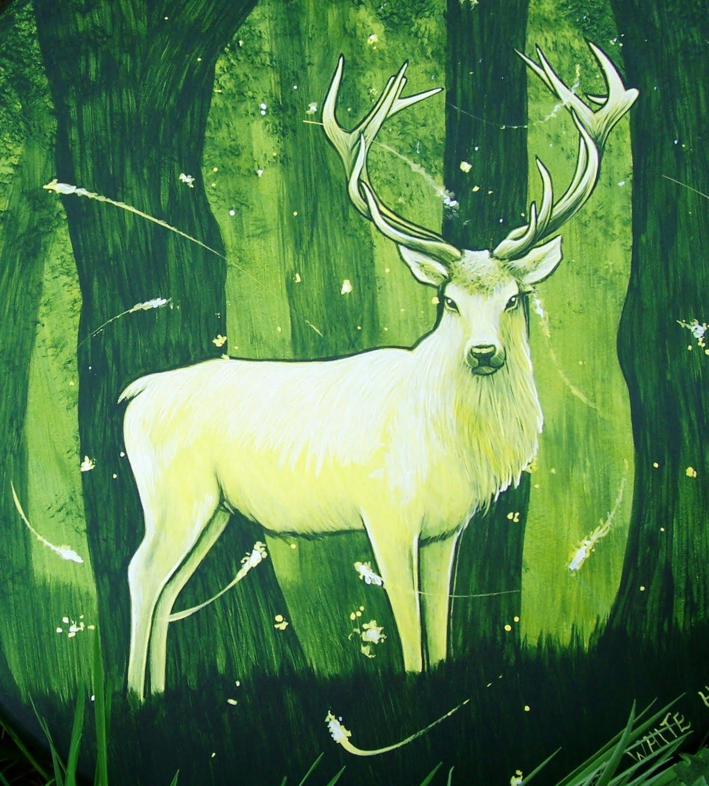 The greenman cernunnos herne the hunter white stag by artist is radio rediscovered the white stag by the misty mountains in glasgow buycottarizona Images
