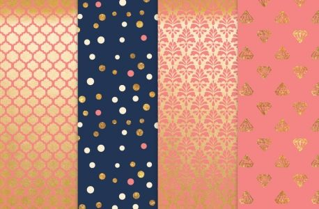Free Gold Foil Patterns Preview