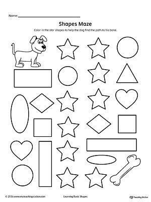 Star Shape Maze Printable Worksheet  Printable Worksheets Maze