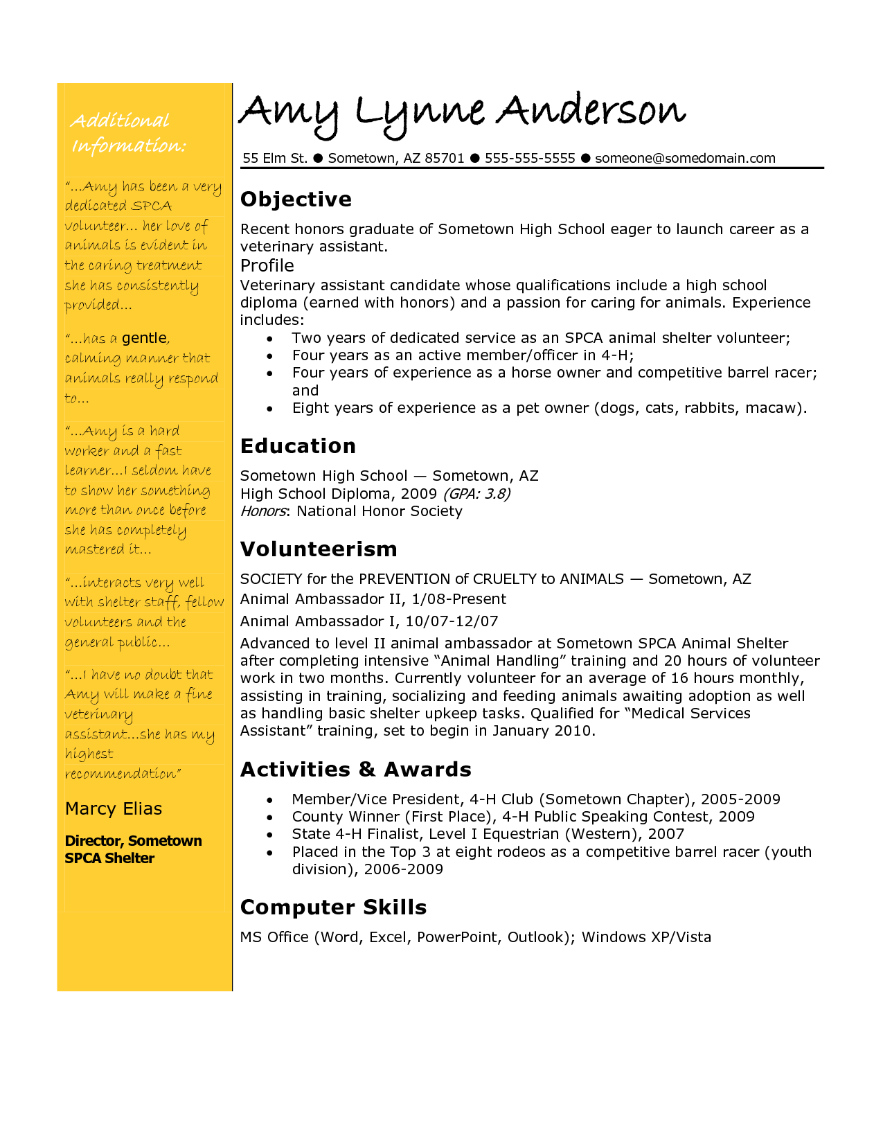 Animal Care Assistant Sample Resume Magnificent Veterinary Assistant  Pinterest  Template
