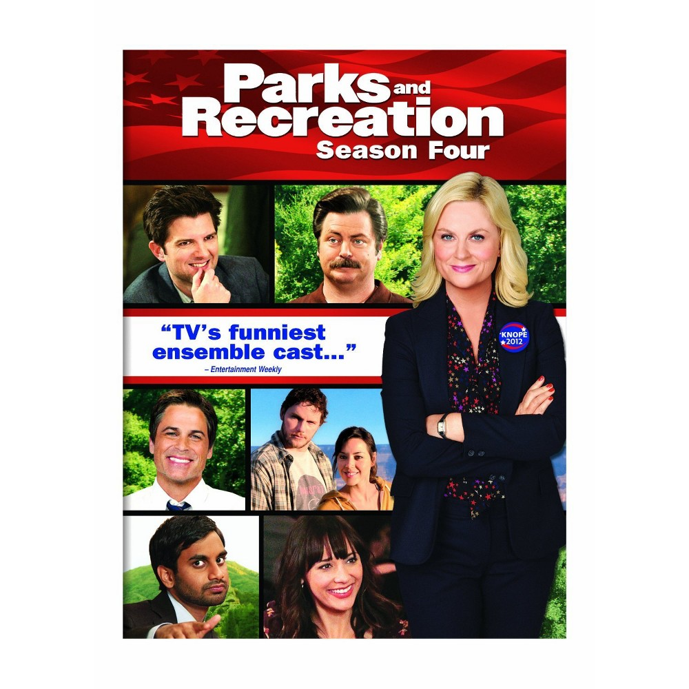 Parks And Recreation Season Four Dvd Parks And Recreation Tv Funny Amy Poehler