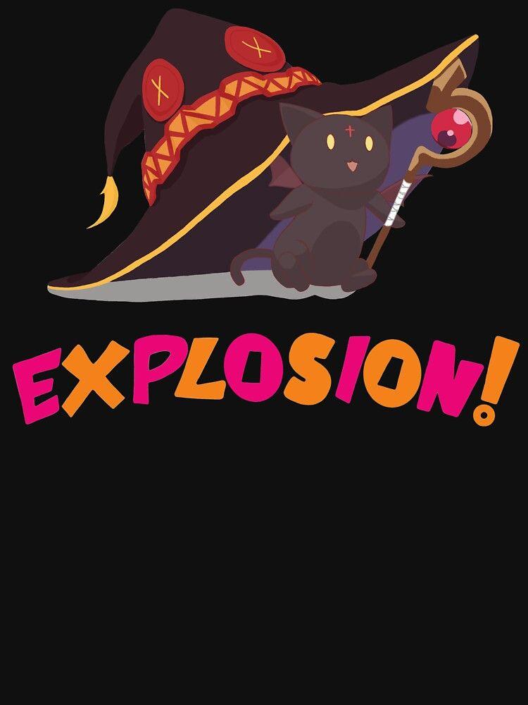 Konosuba Chomusuke Explosion Essential T Shirt By Vanillafriendly Tshirt Colors T Shirt Explosion