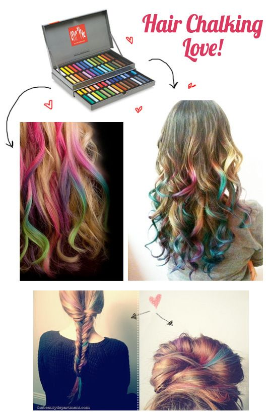 Hair Chalking 101 Crazy Hair Days Hair Chalk Hair Day