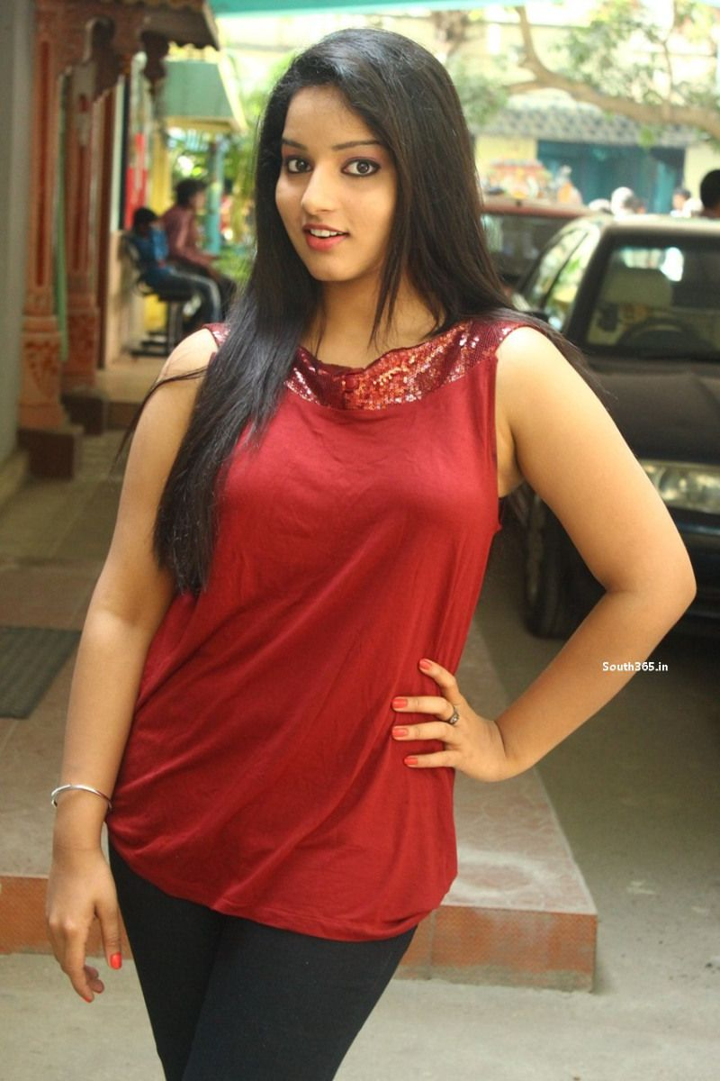 Actress Malavika Menon in Sleeveless Red Top and Black Jeans (7 ...