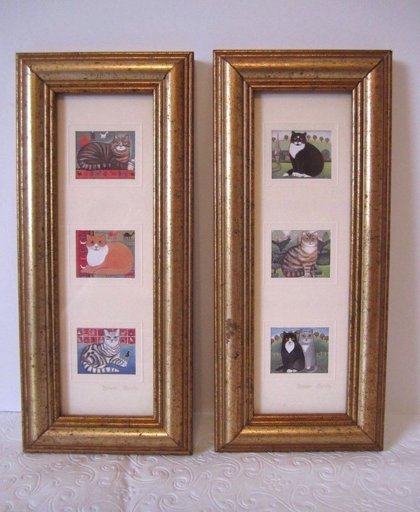 Miniature cat prints sharon jervis gold framed kittens english miniature cat prints sharon jervis gold framed kittens english country kitty jeuxipadfo Choice Image
