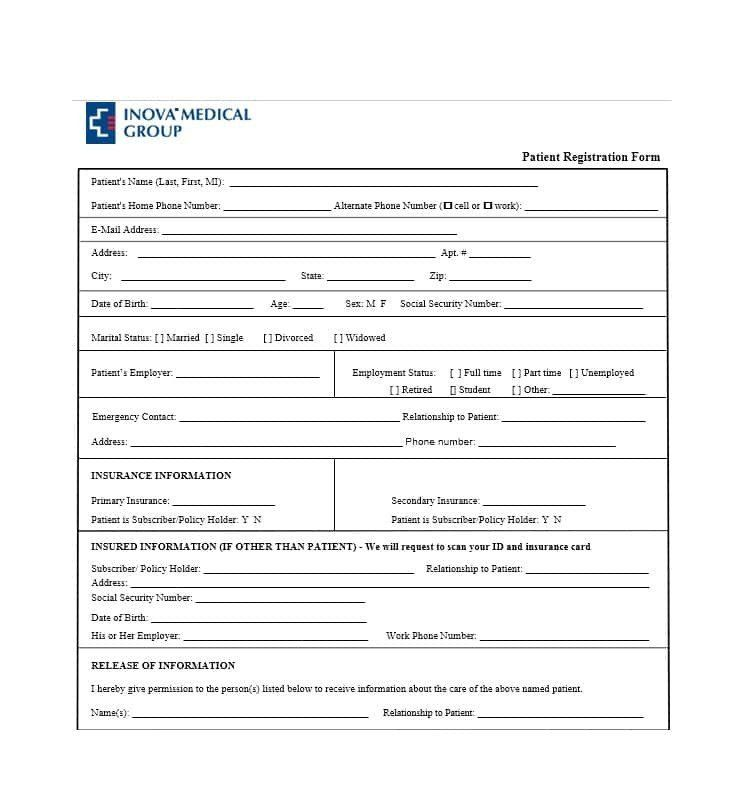 New Patient Forms Templates Lovely 44 New Patient Registration