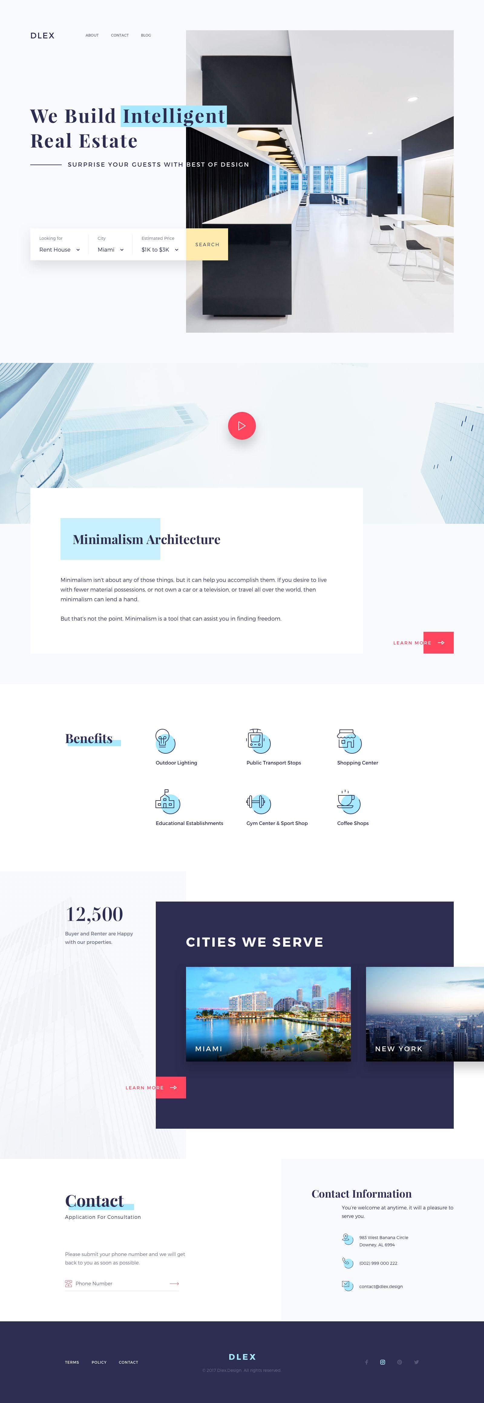 Fullpage Web Layout Design Web Development Design Creative Web Design