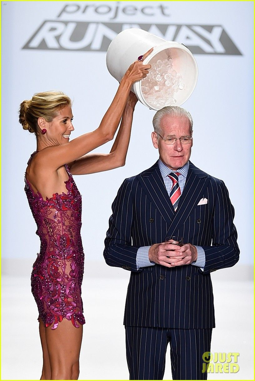 Heidi Klum Gave Tim Gunn the Ice Bucket Challenge At The Project Runway FashionShow