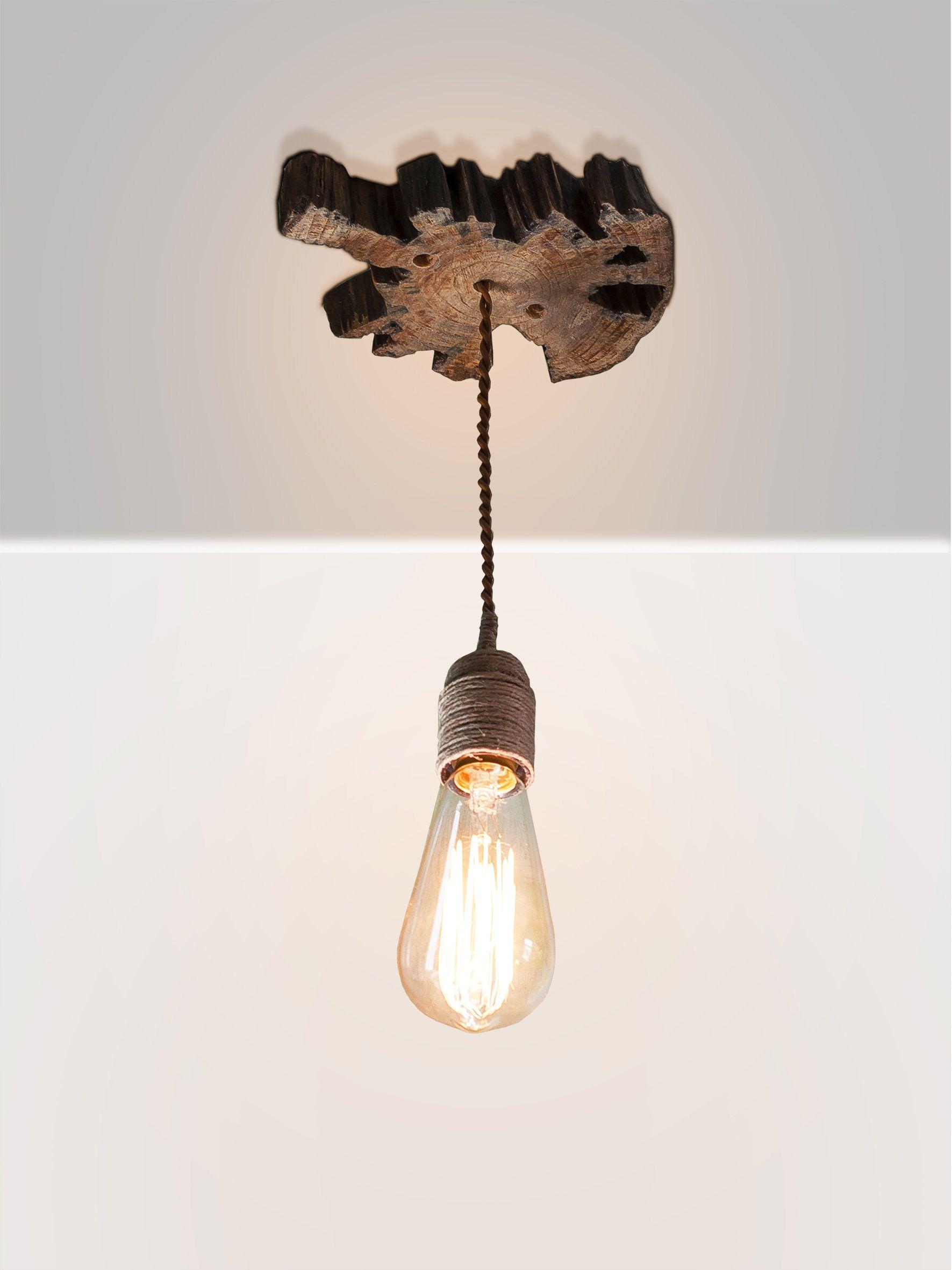 Wooden hanging lamp Pendant light Wood lamp Ceiling wood lamp Rustic