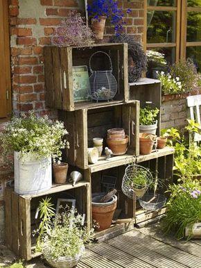 Photo of Composizioni con piante e cassette di legno! 20 bellissime idee..