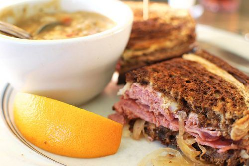 The yummy Reuben Sandwich calls for corned beef and makes for great St. Patrick's Day leftovers.