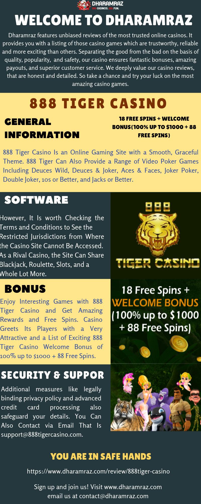 Best Online Gambling Sites 888 Tiger Casino Casino Online
