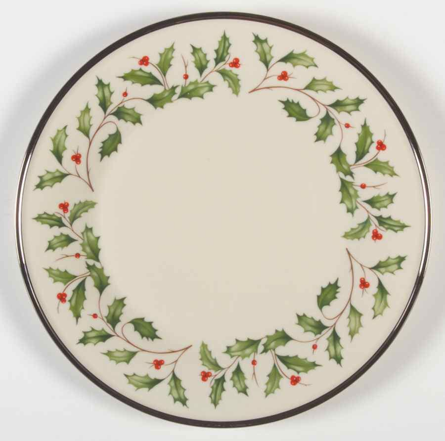 Holiday Platinum Dinner Plate By Lenox Christmas Dinnerware Plates Christmas Tabletop