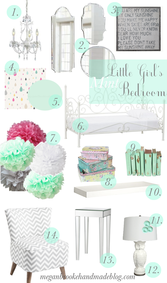 Little Girl S Mint Green Bedroom Inspiration Megan Brooke Handmade Mint Green Bedroom Green Bedroom Decor Girl Room