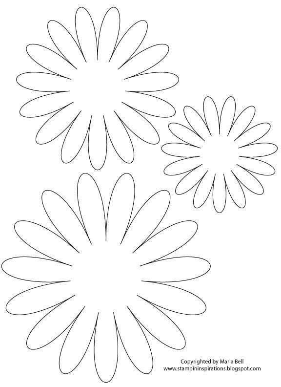 paper flower template Silhouette - Cuts 2 Make Pinterest - flower petal template