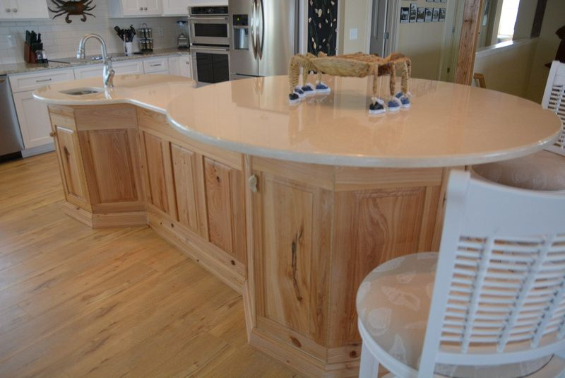 Kitchen Island Of Raised Panel Waxed Cypress Two 36 Octagonal