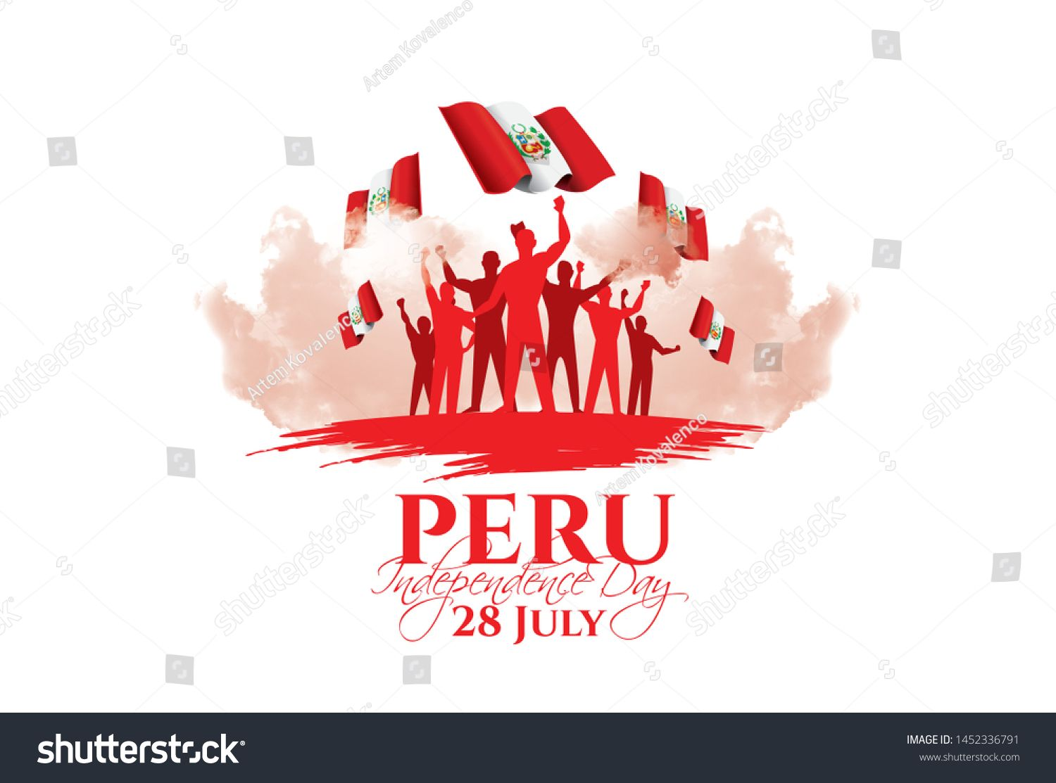 Vector Illustration Design Schedule For The National Holiday Of Peru Independence Day On July 28 Fl In 2020 Holiday Poster Vector Illustration Design Design Elements