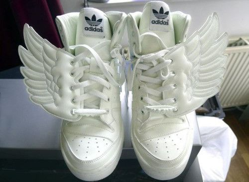 4fdb29d1bac Adidas 👼 uploaded by Kiia. Jordans For Sale, White Shoes, Jeremy Scott,  White Angel Wings ...