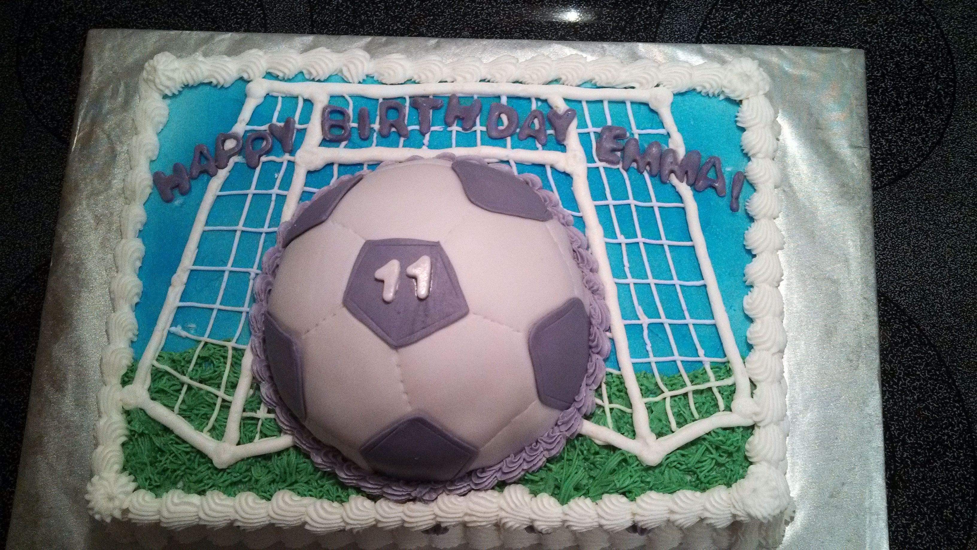 Purple Soccer Ball Birthday Cake Cakes Made By Me Pinterest