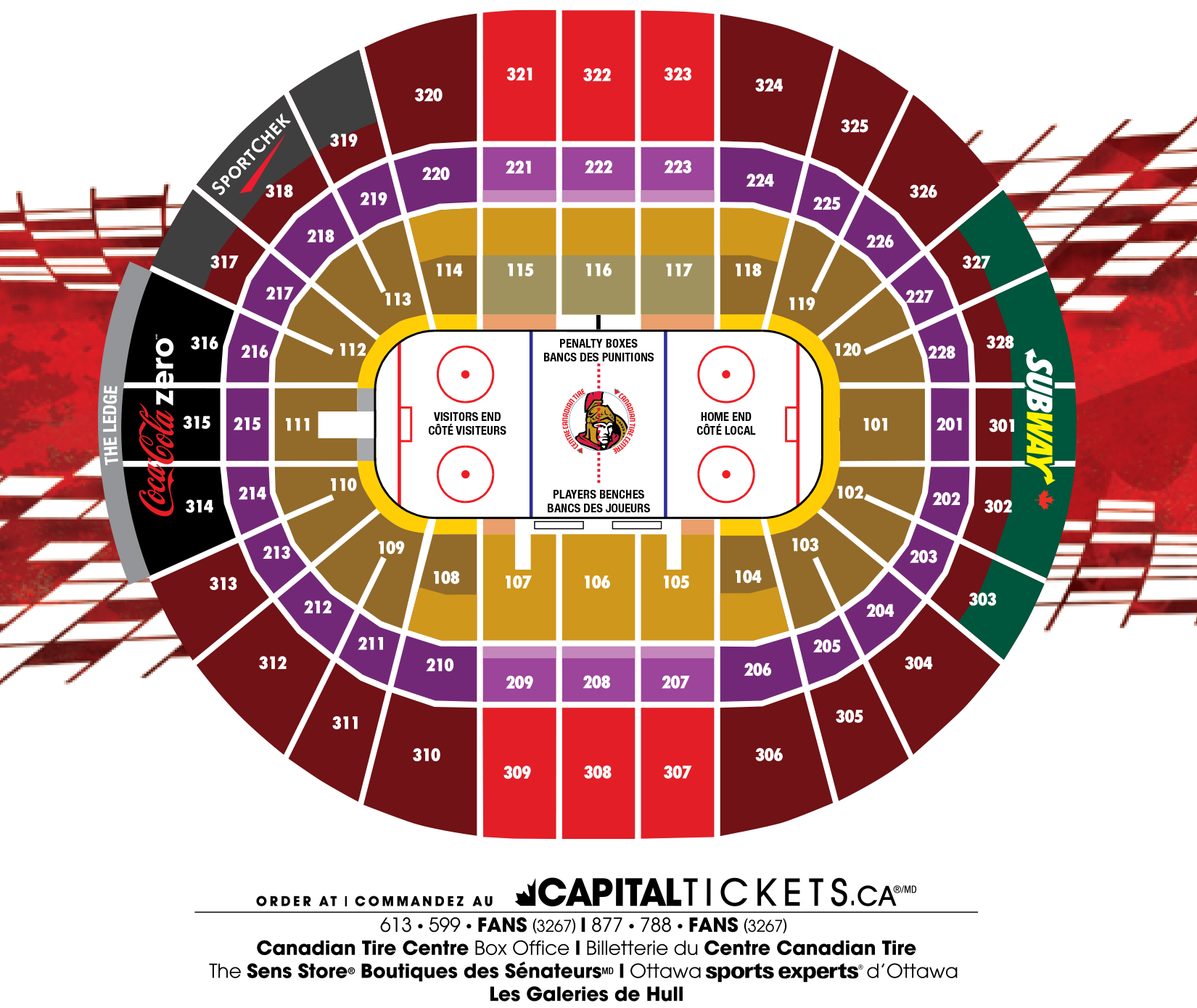 Canadian Tire Centre Seating Map Canadian Tire Centre seating map | Ryan | Canadian tire centre
