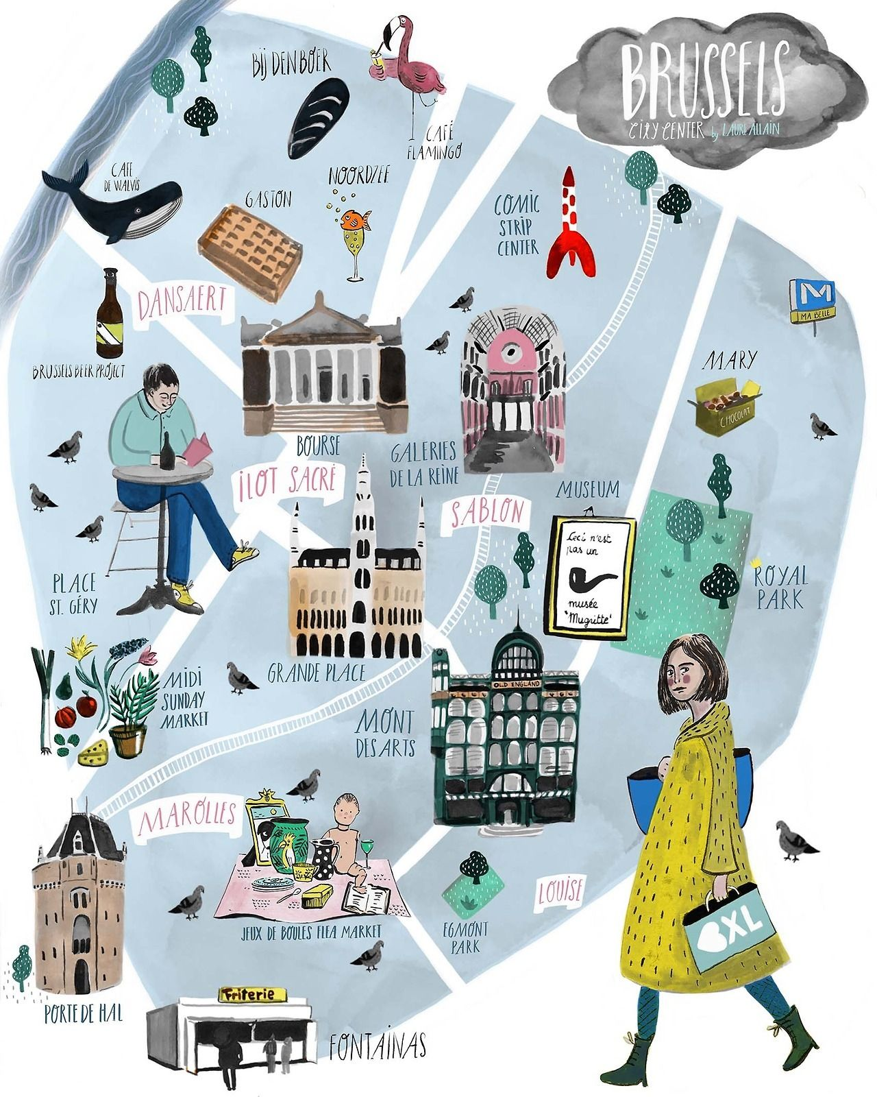 Bruges Map Tourist Attractions
