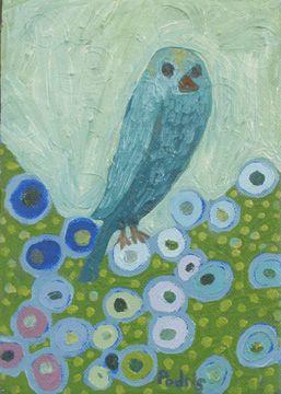 Anna Podris: Bird on a Hedge