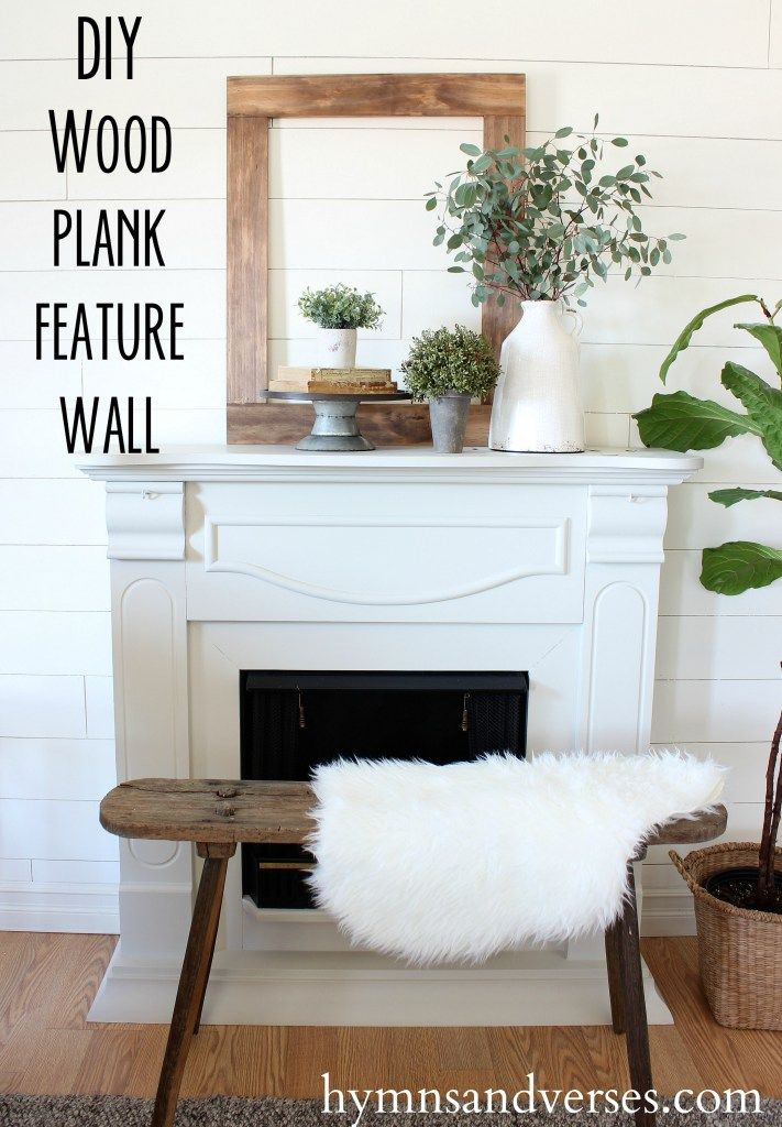 DIY Wood Plank Feature Wall   Hymns And Verses