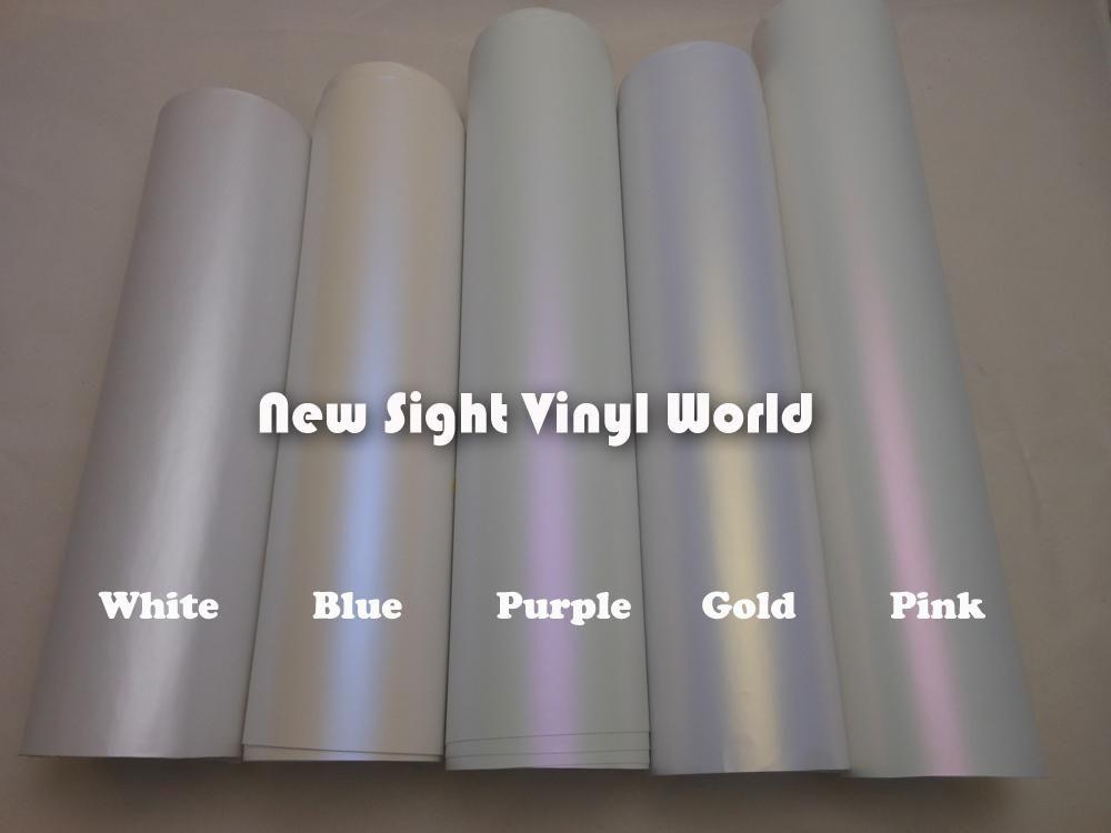 I Love Blue And Purple Premium White Gold Matte Chameleon Pearl Car Wrap Vynil Vinyl Wrap Car Car Paint Jobs Gold Car