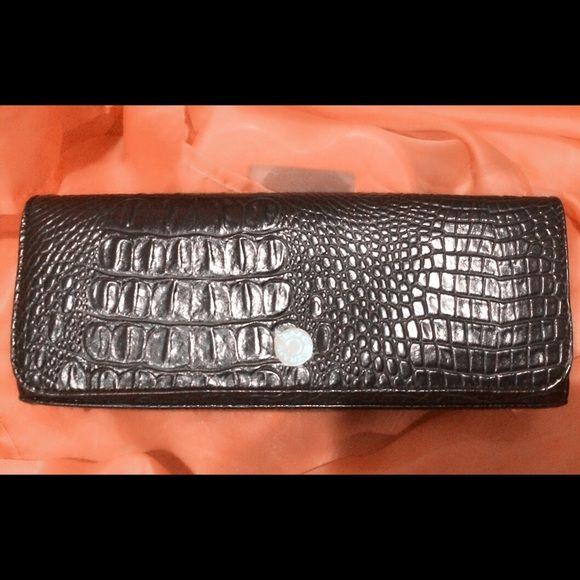 Isaac Mizrahi Crocodile Skin Wristlet/Evening Bag In New Condition! Smoke and pet free home! Isaac Mizrahi Bags Clutches & Wristlets