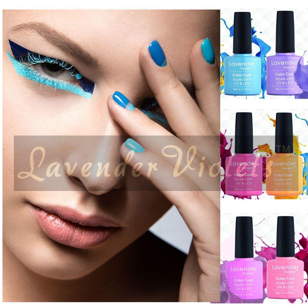 Lavendel Veilchen Fasion Heißer Verkauf Soak Off UV LED Farbe Nagelgelpoliermittel 8 ml Mit Verpackung Box