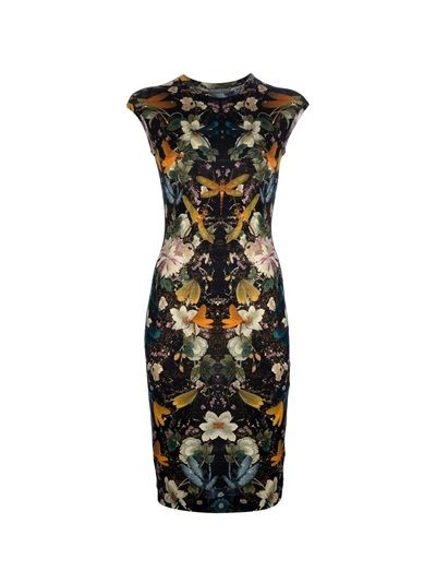 ALEXANDER MCQUEEN Mid-Length Floral Print Dress