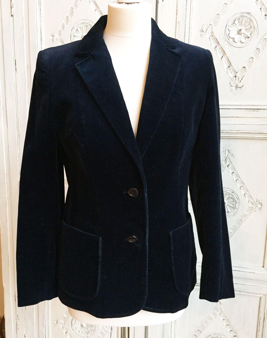 Navy ladies velvet jacket