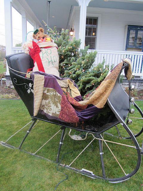 """Á""""のドメインはお名前 Comで取得されています Country Christmas Decorations Christmas Sleigh Outdoor Christmas Decorations"""